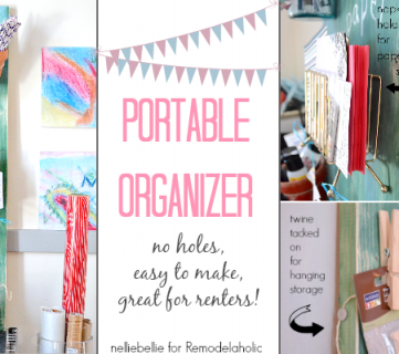 Create Storage with a Portable Organizer