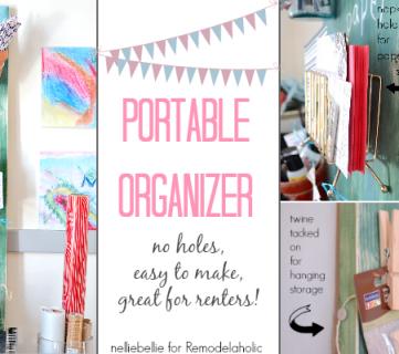 Create Storage with a Portable Organizer