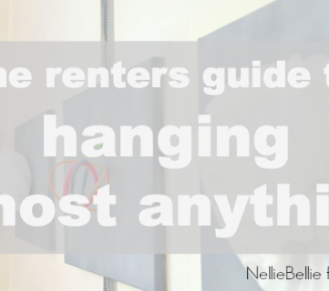 How to Hang Art (And More!) While Renting