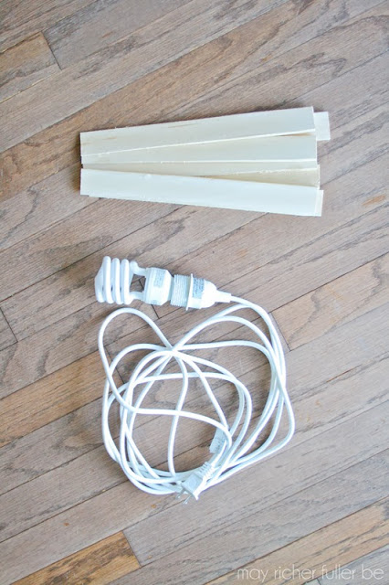 wood shim pendant light kit, May Richer Fuller Be featured on Remodelaholic