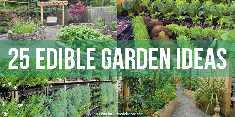 Remodelaholic 25 edible garden ideas for Edible garden designs