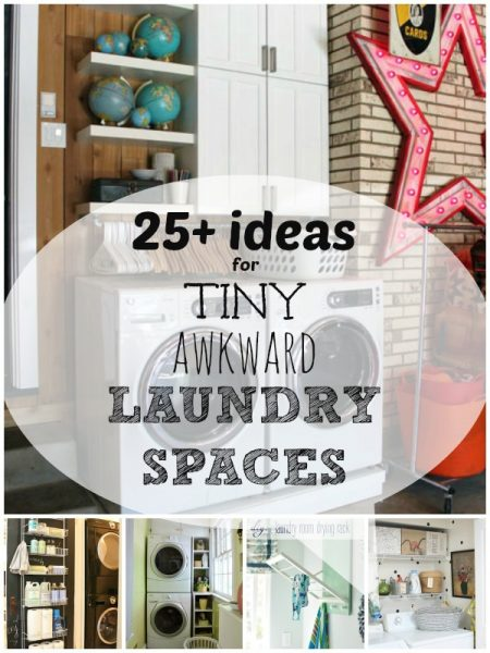 Tiny Awkward Laundry Spaces