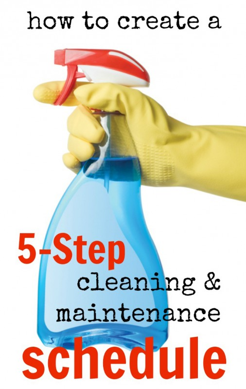 5-Step Cleaning and Maintenance Schedule - Tipsaholic.com