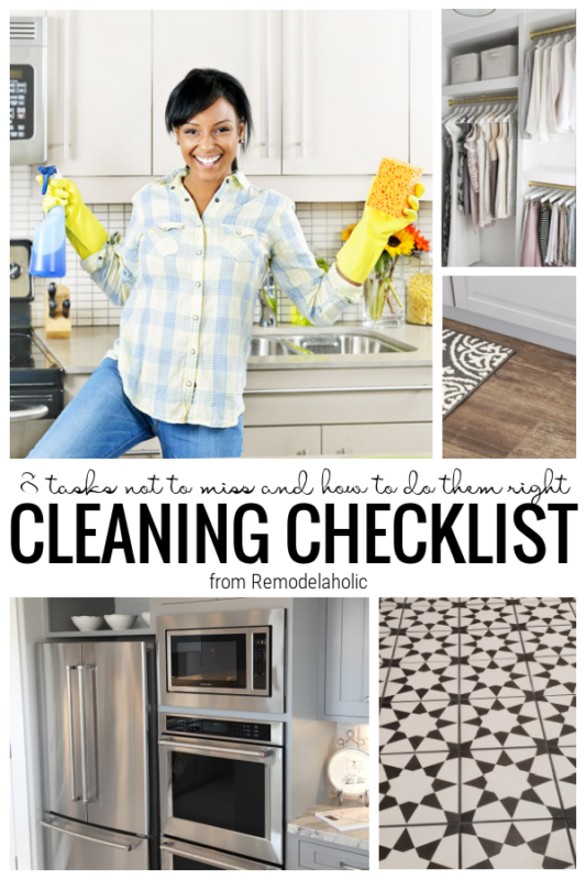 Cleaning Checklist Tasks Not To Forget, From Remodelaholic