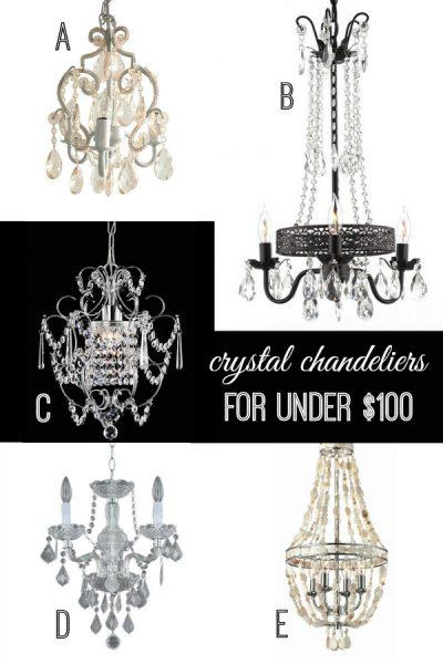 Crystal Chandeliers for Under $100 via Remodelaholic.com