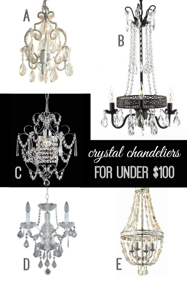 New Crystal Chandeliers for Under via Remodelaholic