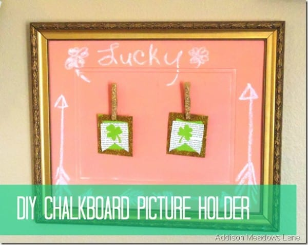DIY Chalkboard Photo Holder By Addison Meadows Lane