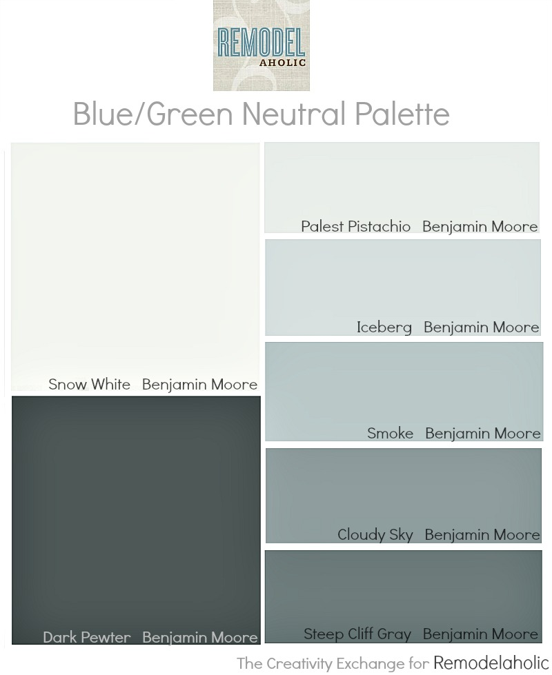 Remodelaholic an easy paint color strategy for the whole for Blue gray paint palette