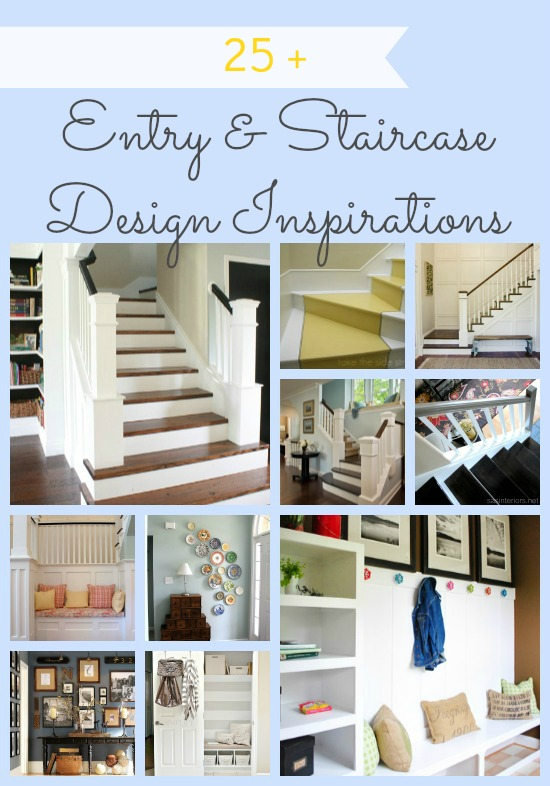 Entryway And Staircase Inspiration from Remodelaholic