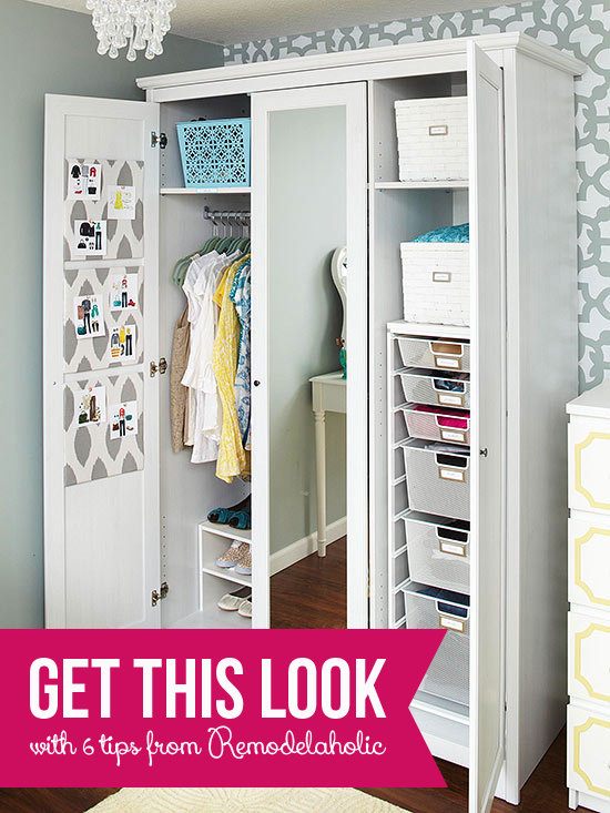 Get This Look - Organized Armoire via Remodelaholic