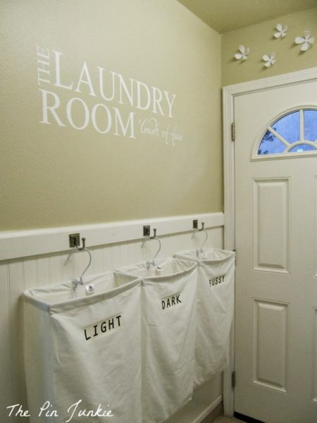 laundry makeover. Personalized Hanging Laundry Bags Makeover