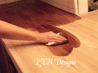 PJH Designs wood flooring counter