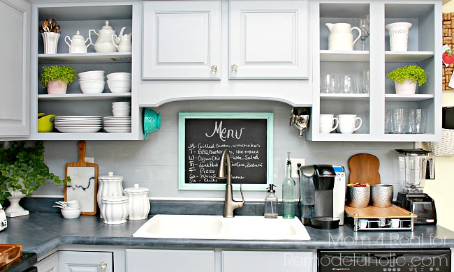 DIY Plank Backsplash Using Peel And Stick Vinyl Flooring