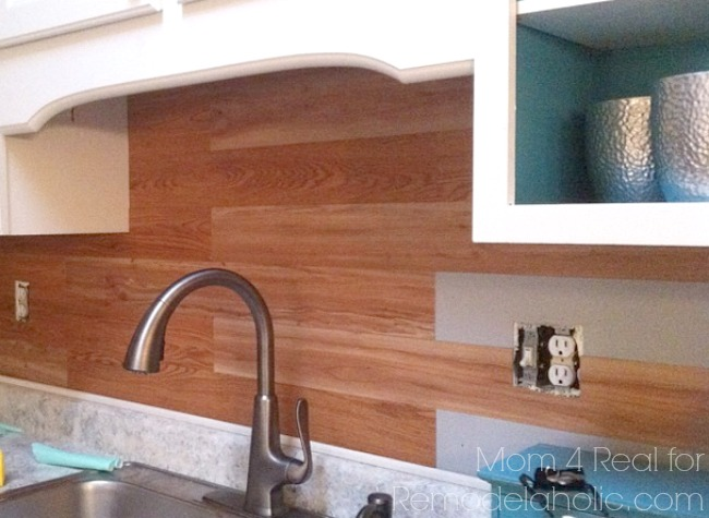 Nice Plank wall backsplash