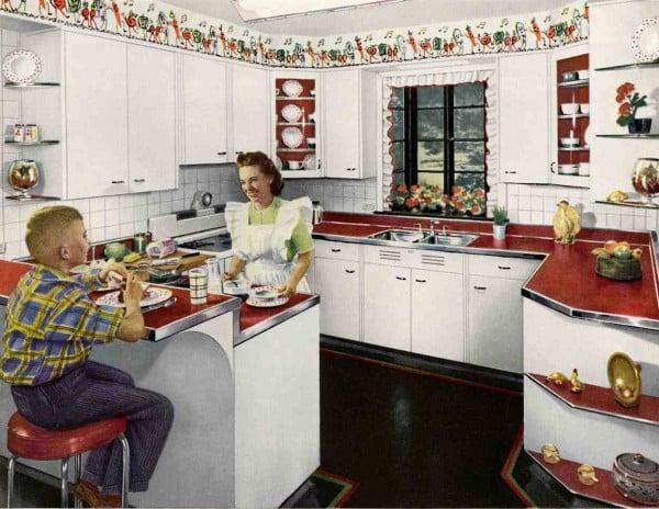 Exceptional Retro Red Kitchen