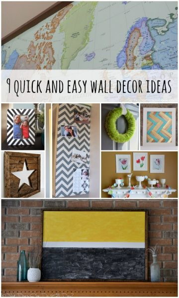 Wall Decor Ideas and Tutorials via Remodelaholic