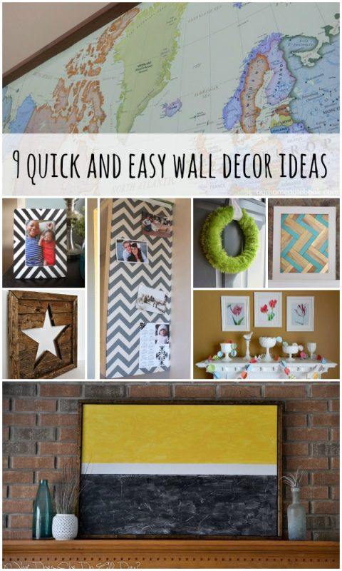 Wall Decor Ideas and Tutorials via Remodelaholic.com