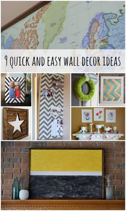 Wall Decor Ideas and Tutorials via Remodelaholic.com