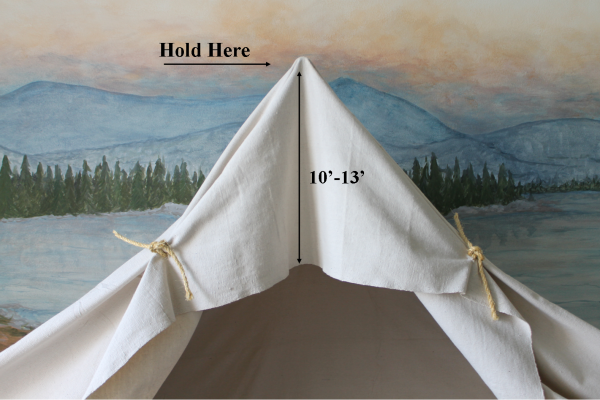 drop cloth camping tent bed, The Ragged Wren on Remodelaholic