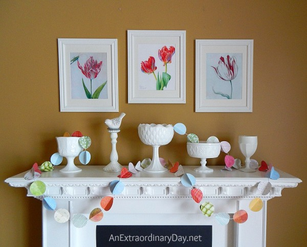 Easy DIY Wall Decor Ideas Diy White Mantel With Spring Colors
