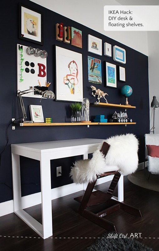 Easy DIY Wall Decor Ideas Gallery Wall With Shelves