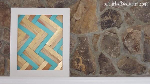 Easy DIY Wall Decor Ideas Gilded Wood Shim Wall Art