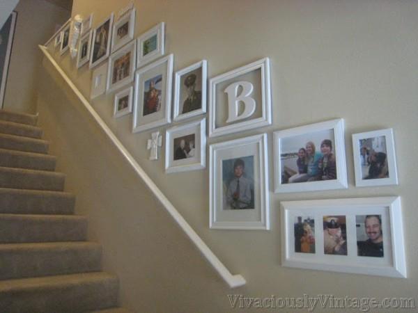 Easy DIY Wall Decor Ideas Stairway Gallery Wall