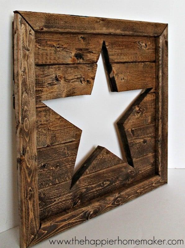 Easy DIY Wall Decor Ideas Wood Star Cut Out Wall Decor