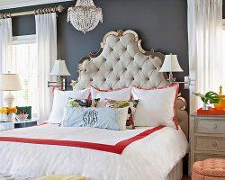 feature elegant eclectic bedroom