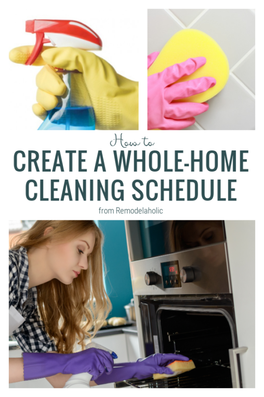 How To Create A Whole Home Cleaning Schedule From Remodelaholic