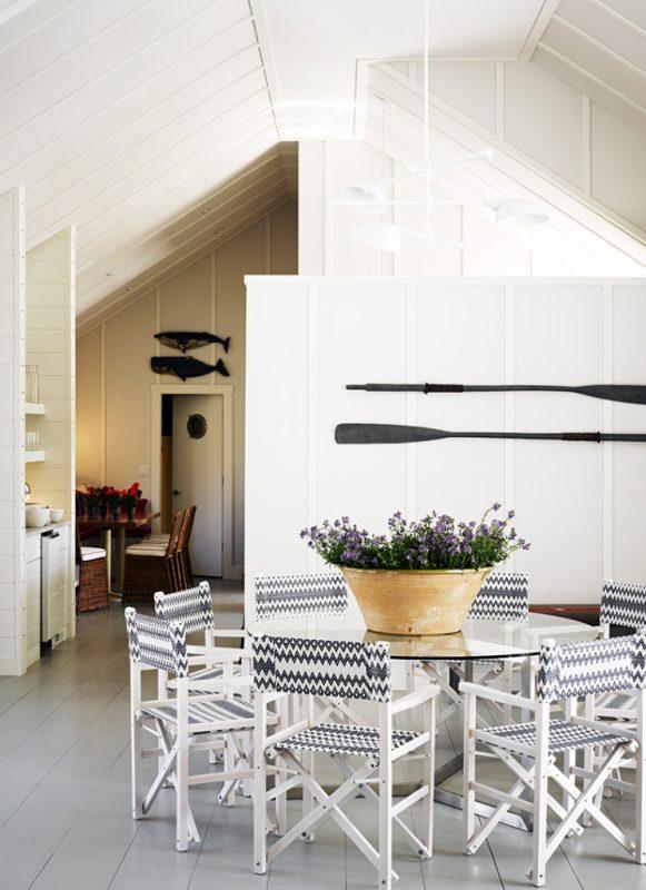 Modern Coastal Dining Room at Remodelaholic.com