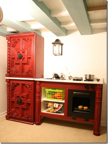 kids cottage play kitchen, Remodelaholic