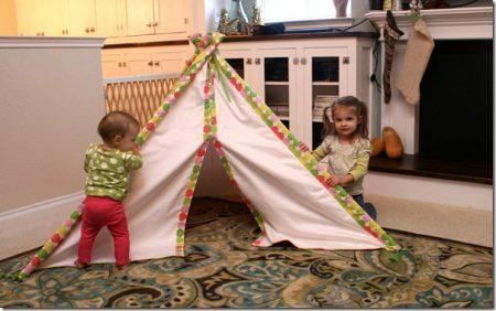 kids fabric tent tutorial, Remodelaholic