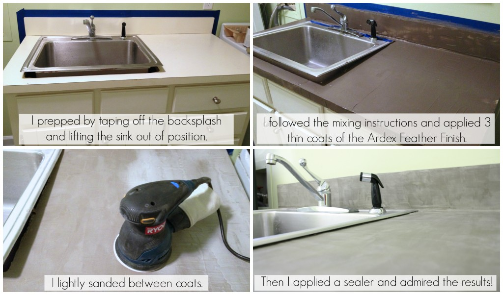 ... Low Cost Laundry Room Makeover With Concrete Countertops, Featured On  Remodelaholic