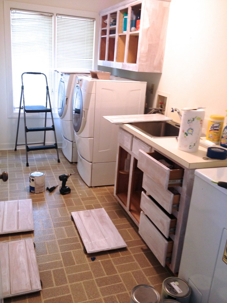 Easy Laundry Room Makeovers Remodelaholic High Style Low Cost Laundry Room Makeover