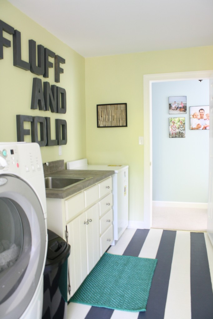 Remodelaholic high style low cost laundry room makeover for Room makeover