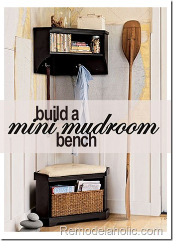 mudroom corner bench, Remodelaholic