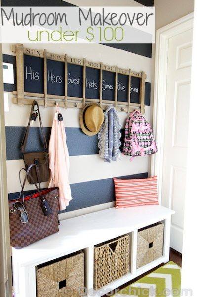 mudroom makeover, DecorChick