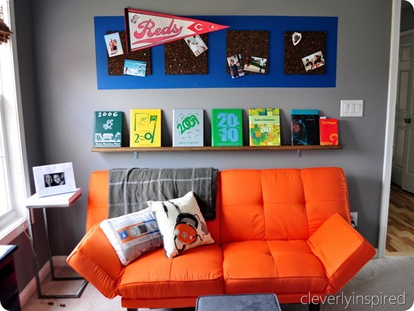 orange accent teen boys room