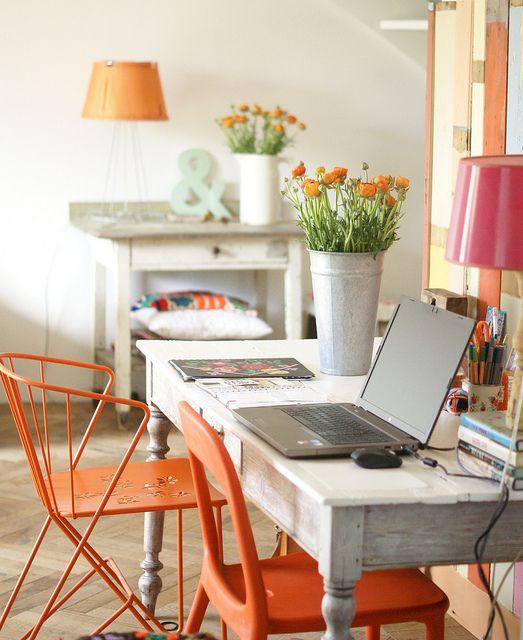 orange office chairs