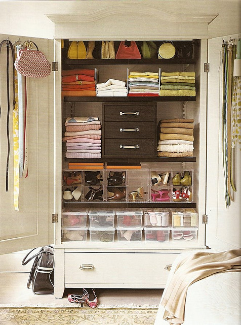 organized armoire via flickr