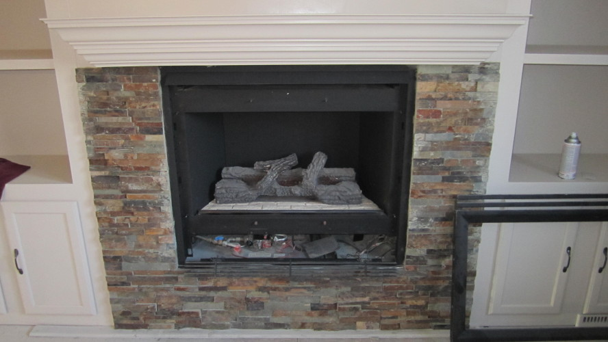 Stone Tile For Fireplace Surround Images