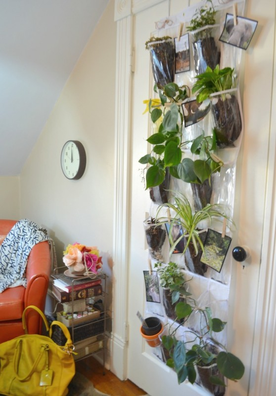 Create a Vertical Indoor Hanging Planter #remodelaholic