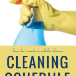 Whole Home Cleaning Schedule From Remodelaholic
