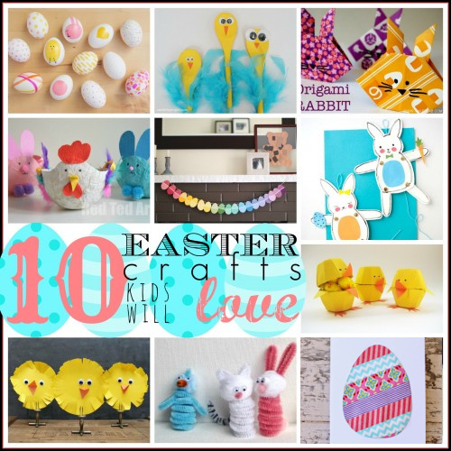10 Cute Easter Crafts Kids Will Love Featured On Remodelaholic.com