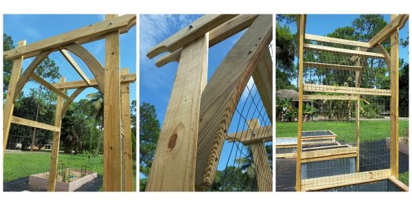 Build A Garden Arbor With Gothic Arches For Your Climbing Vegetables, Reader Update, Tutorial From @Remodelaholic