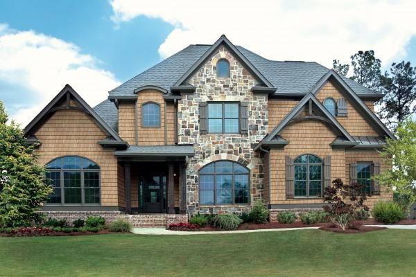 Remodelaholic home exterior finishes Vinyl siding that looks like stone