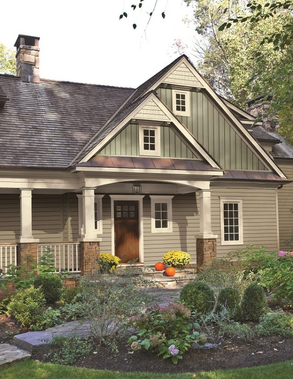 Remodelaholic home exterior finishes for Examples of exterior house color combinations
