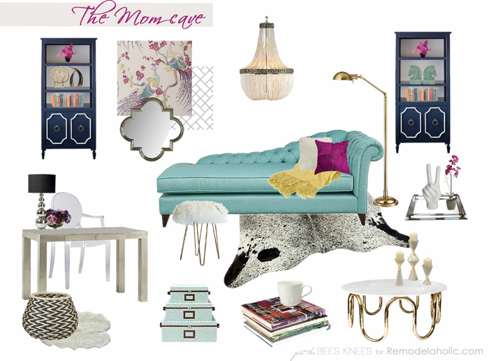 The Mom Cave on Remodelaholic.com