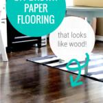 DIY Brown Paper Bag Flooring That Looks Like Wood, Faux Wood Plank Flooring Remodelaholic